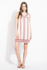 Natural Embroidered Dress
