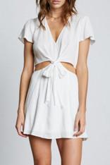 White Flowy Cut Out Dress