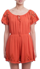 burnt orange romper