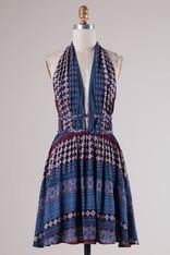 Navy Patterned Dress