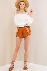 burnt orange shorts