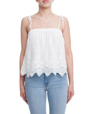 Strapless Lace Top Shoulder Ties
