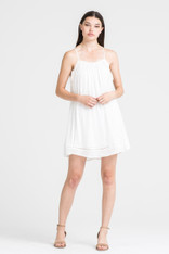 White Dress Lace Up Sides