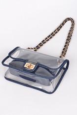 Clear Bag Denim Trim