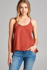 Rust Scoop Neck Cami