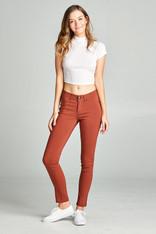 rust skinny jeans