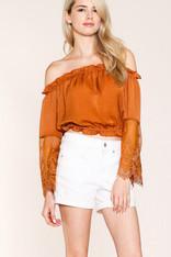 burnt orange top