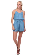 Vintage Blue Chambray Romper