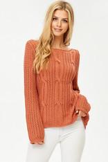 burnt orange sweater
