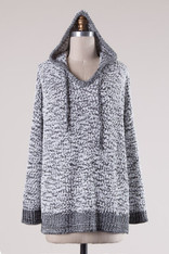 Black and White Cozy Hoodie
