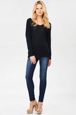 Black Twist Back Sweater