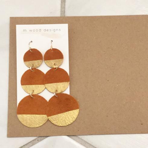 burnt orange earrings