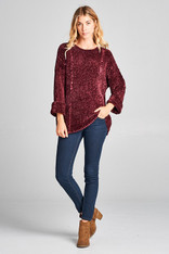Mulberry Chenille Sweater