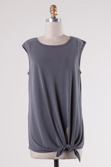 Charcoal Side Knot Tank