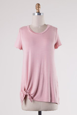 pink side knot tee
