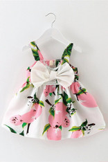 Pink and White Bow Front Dress