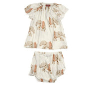 Elephant in Tutu Dress and Bloomer Set