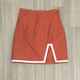 burnt orange skirt