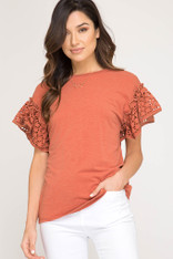 burnt orange top