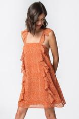Polka Dot Ruffle Detail Dress
