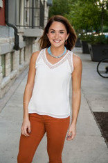 burnt orange skinny jeans