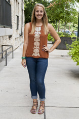Burnt Orange Gatsby Top
