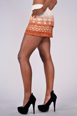 Burnt Orange Ombre Shorts
