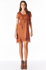 Burnt Orange Knit Dress
