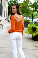 Orange Long Sleeve Tee