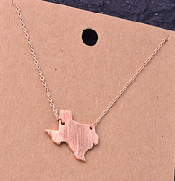 Rose Gold Texas Necklace
