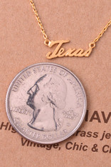Texas Script Necklace