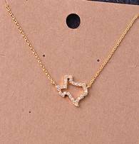 Gold Texas Necklace with Stones