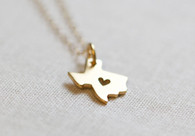 texas heart necklace
