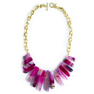Gemstone Necklace Fuschia