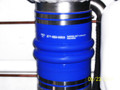 """10.00"""" Blue Silicone Wet Marine Exhaust Double Hump Hose"""