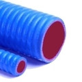 "01.00"" Blue Silicone Corrugated Hose per Foot"
