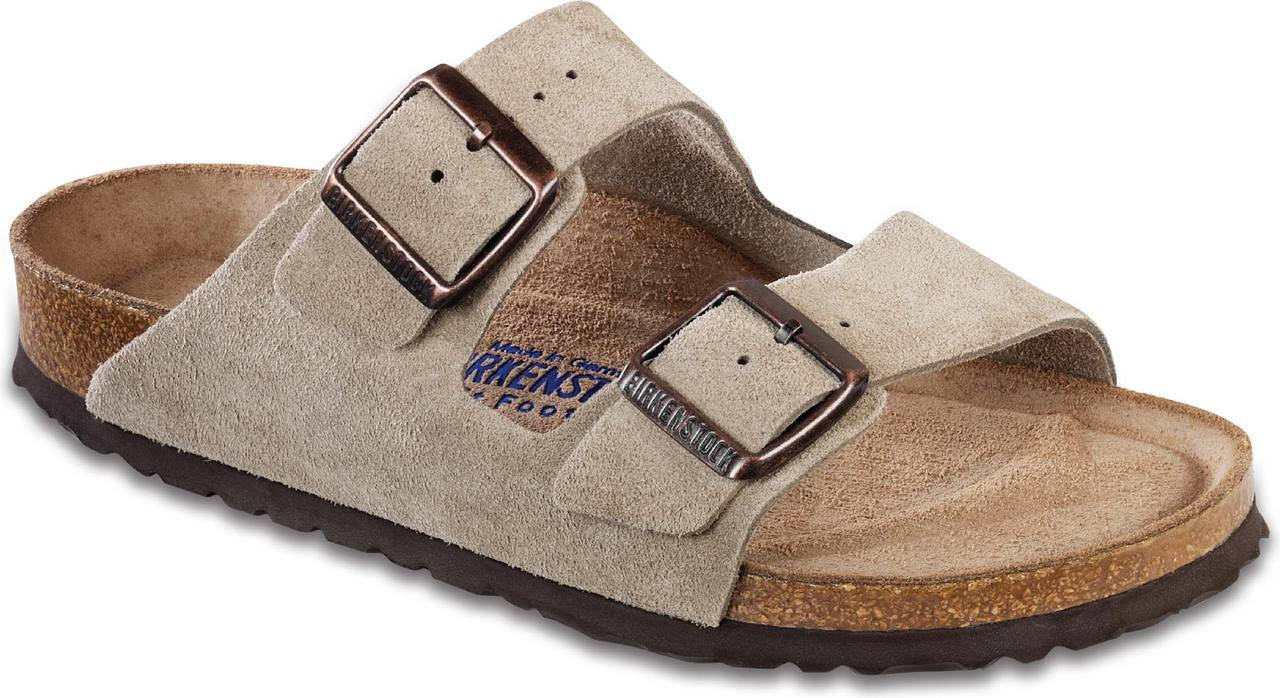 Birkenstock Arizona Soft Footbed in Taupe Suede