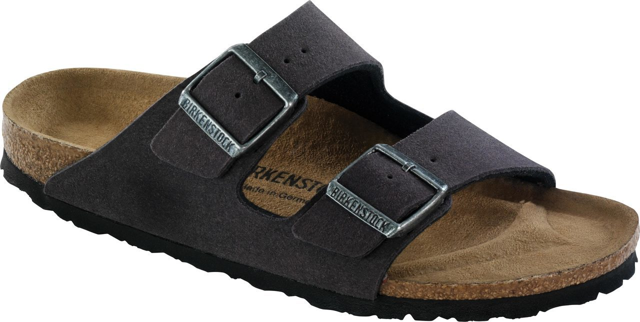 Birkenstock Arizona Vegan in Anthracite Microfiber