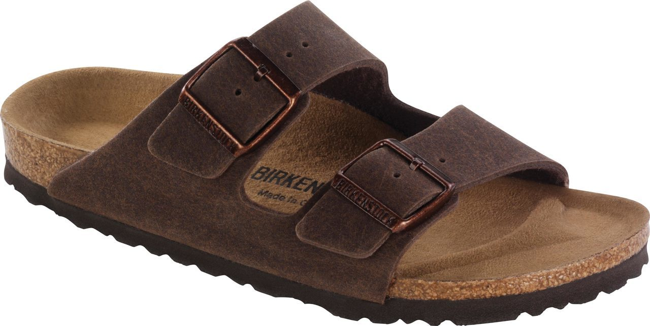 Birkenstock Arizona Vegan in Cocoa Brown Microfiber