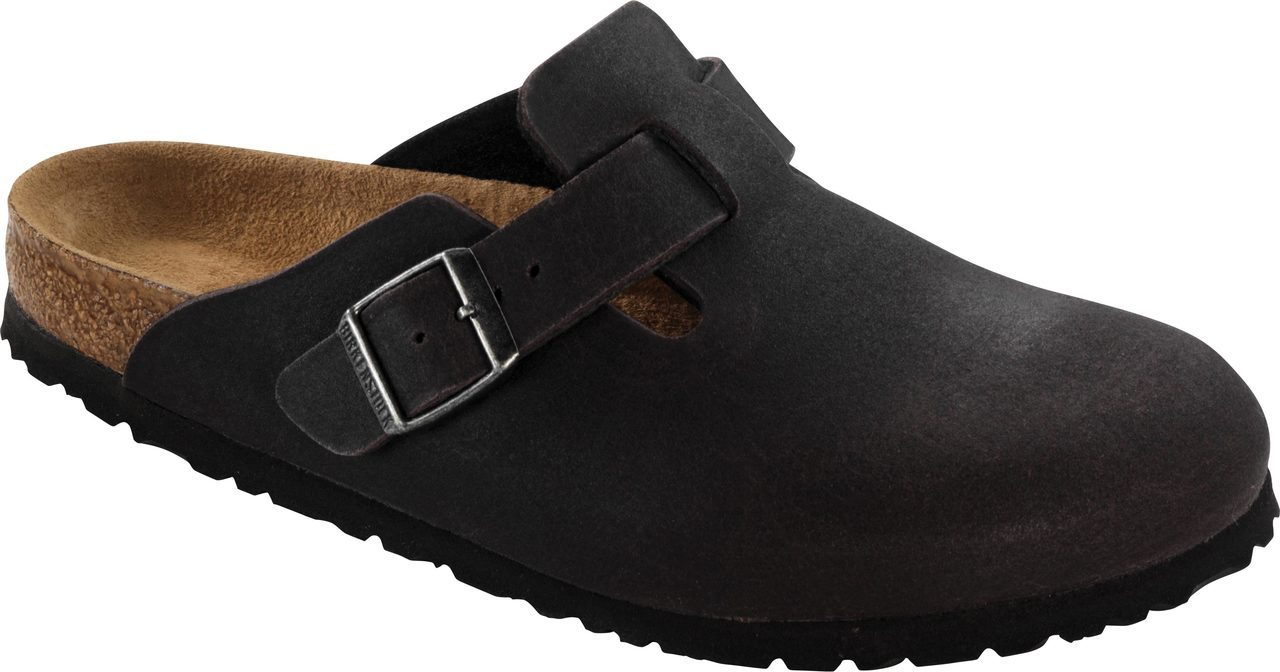Birkenstock Boston Vegan in Anthracite Microfiber