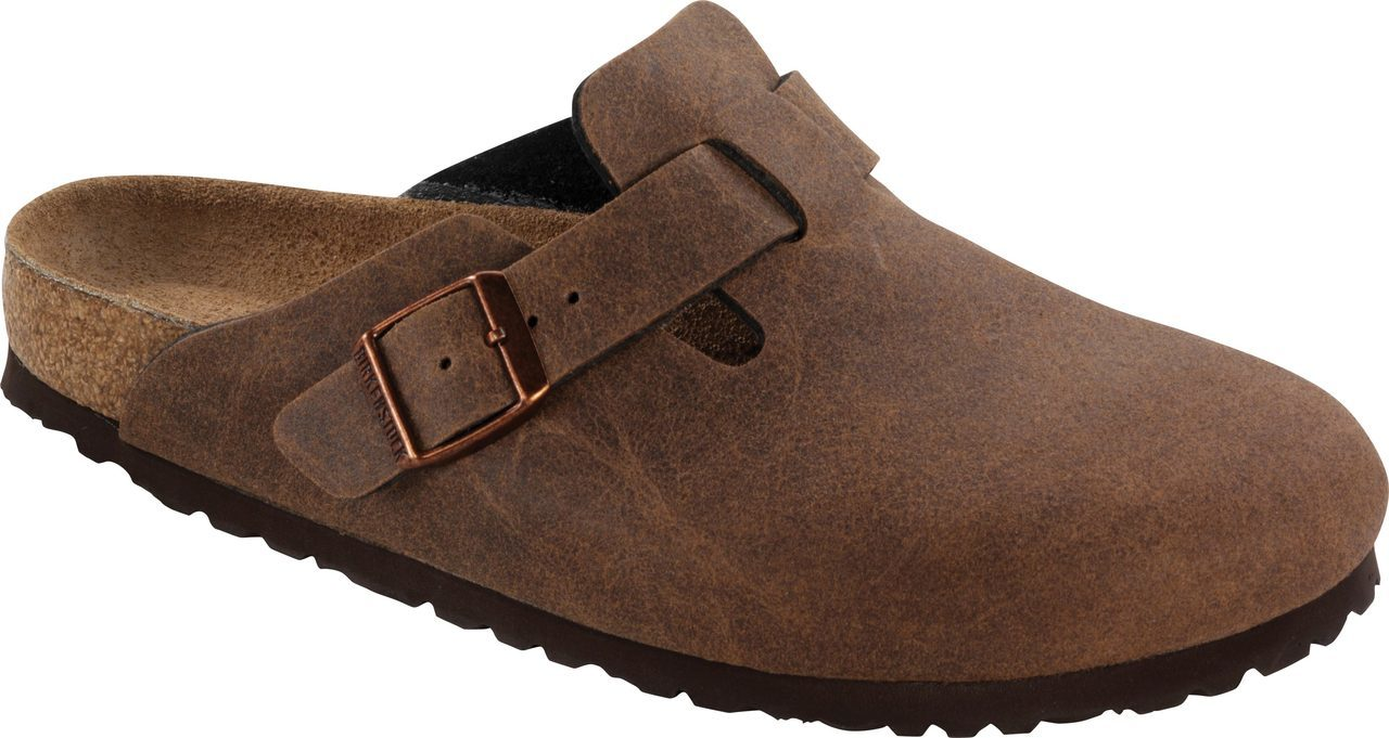 Birkenstock Boston Vegan in Cocoa Brown Microfiber
