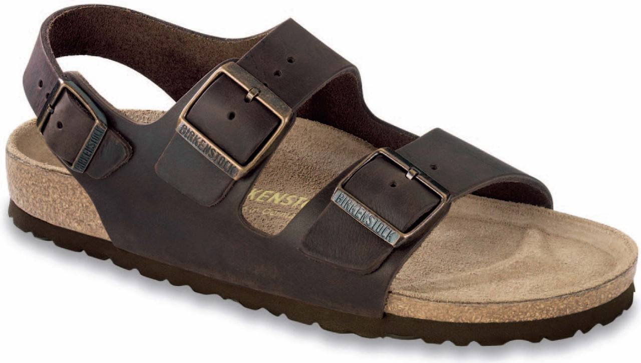 Birkenstock Milano in Habana Oiled Leather