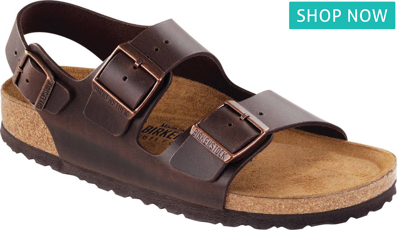 Birkenstock Milano Soft Footbed in Brown Amalfi Leather