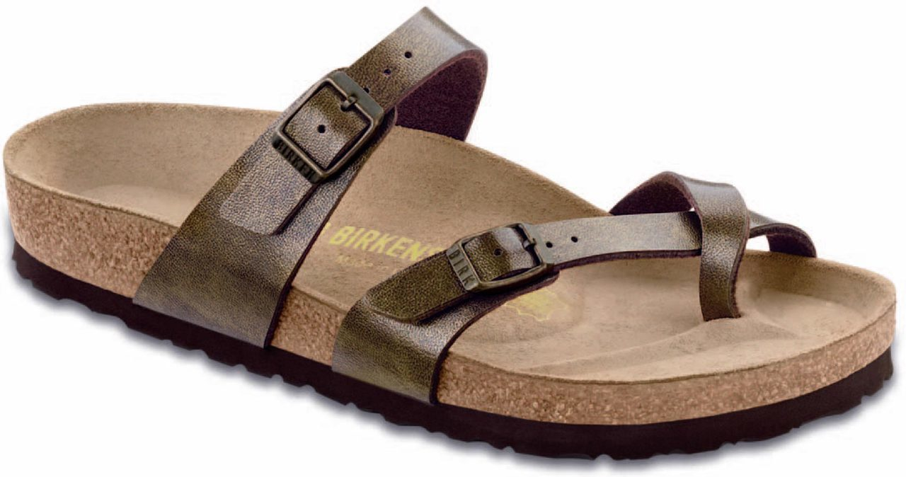 Birkenstock Women's Mayari in Golden Brown Birko-Flor