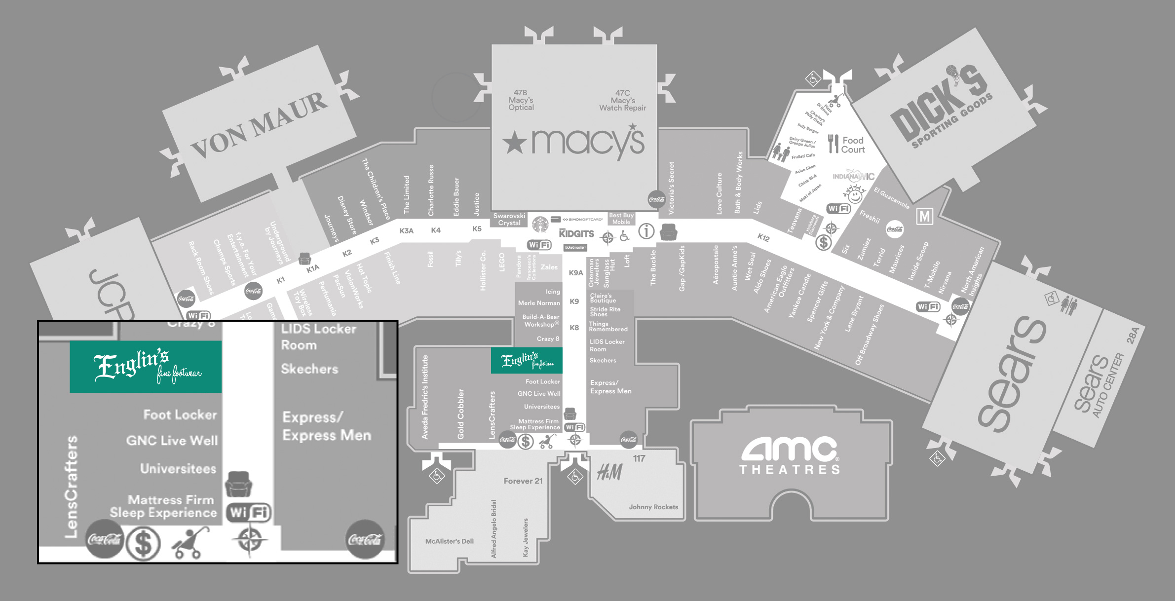 Fox River Mall Map. Click Here For Appleton Map With Fox River Mall ...