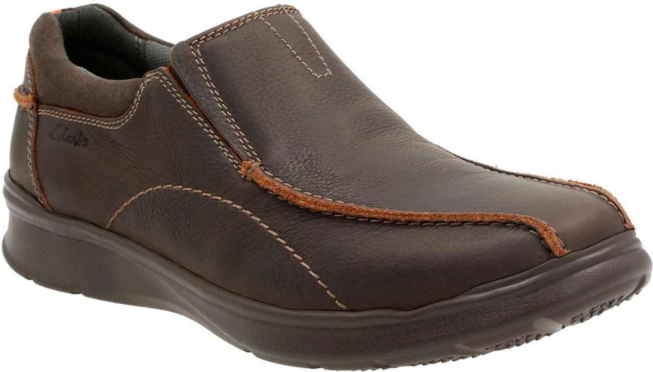 Clarks Mens Cotrell Step in Brown Oily Leather