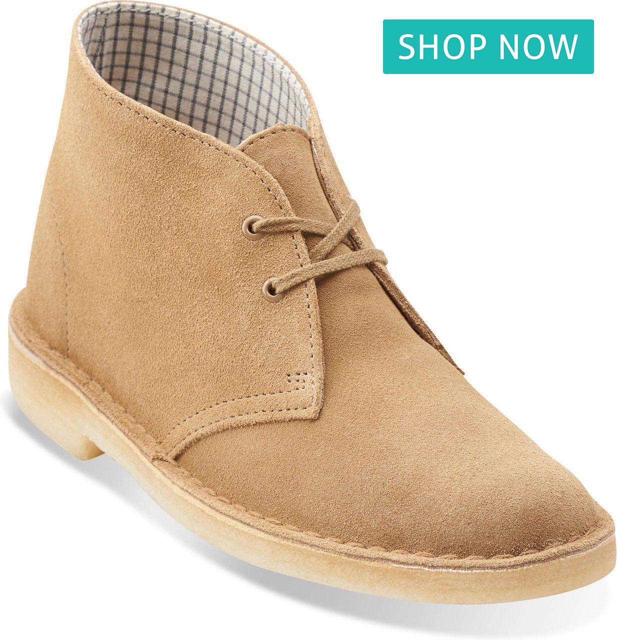 Clarks Women's Desert Boots in Oakwood Suede