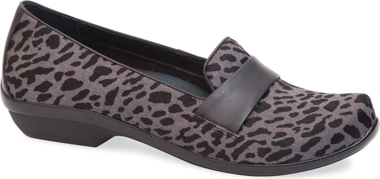 Dansko Oksana in Grey Cheetah Hair Calf