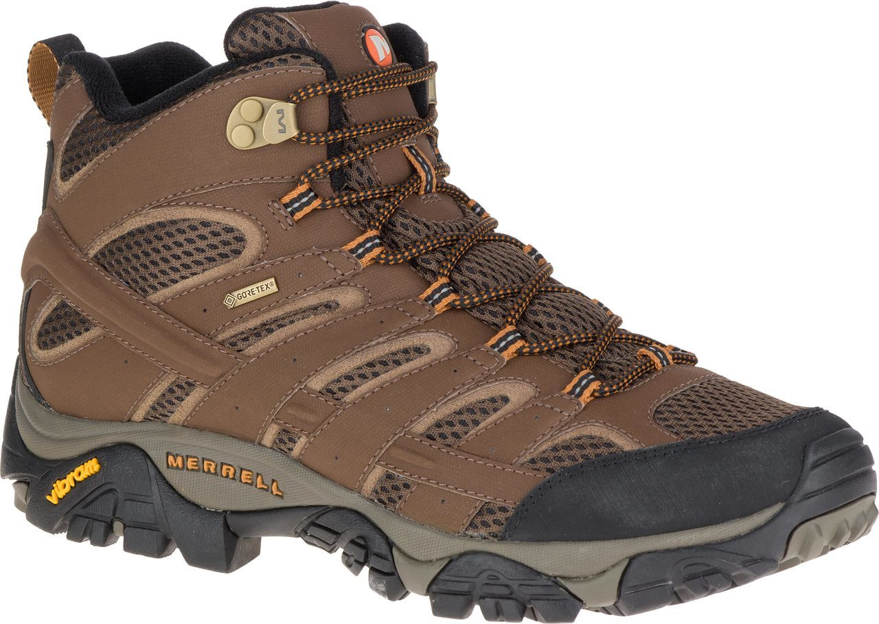 Merrell Men's Moab 2 Mid GORE-TEX in Earth