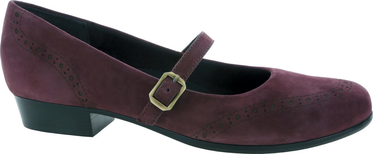 Munro Whitney in Wine Suede